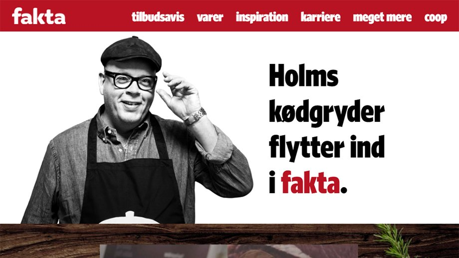 Screenshot fra Faktas website